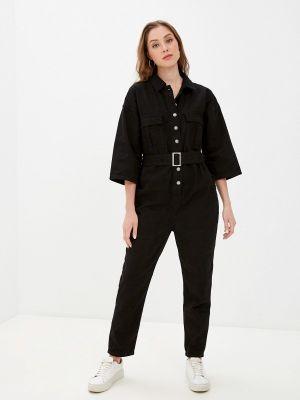 Черный джинсовый комбинезон Miss Bon Bon