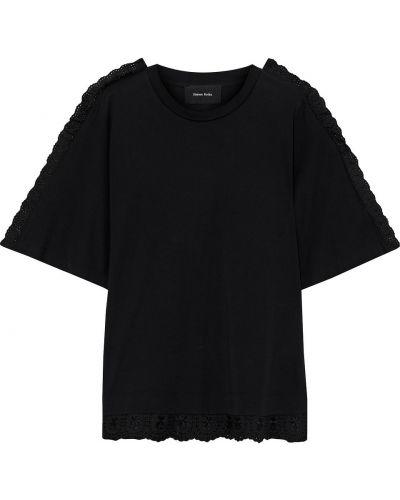 Черная трикотажная футболка Simone Rocha