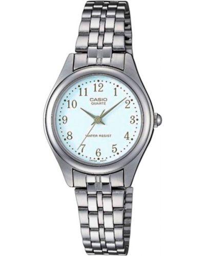 Кварцевые часы водонепроницаемые с круглым циферблатом Casio