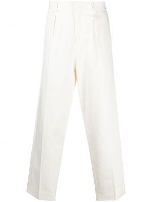 Хлопковые белые брюки стрейч Gcds