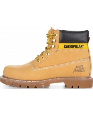 Кожаные ботинки демисезонные со шнуровкой Caterpillar