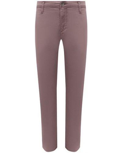 Хлопковые розовые укороченные брюки Ag
