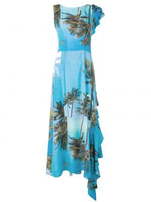 Шелковое платье макси - синее Natasha Zinko