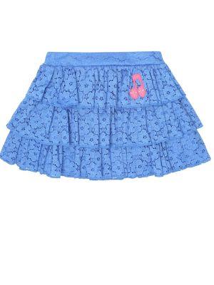Ażurowy bawełna bawełna niebieski spódnica Mini Rodini