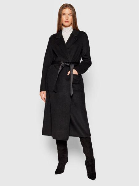 Czarny płaszcz Calvin Klein