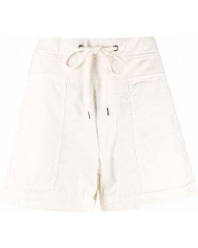 Хлопковые белые шорты милитари James Perse