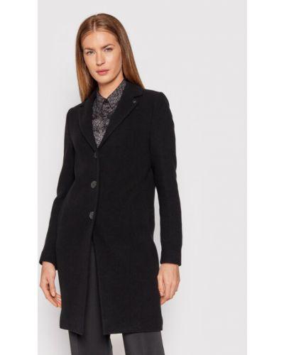 Płaszcz wełniany - czarny Calvin Klein