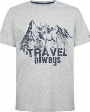 Прямая серая хлопковая спортивная футболка Outventure
