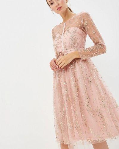 Вечернее платье осеннее розовое Soky & Soka