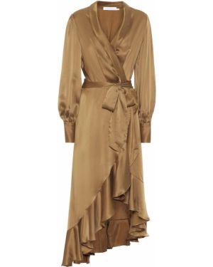 Платье с запахом шелковое Zimmermann