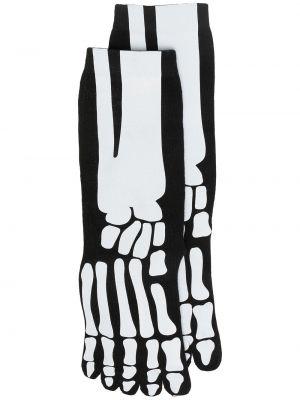 Черные хлопковые носки в рубчик Natasha Zinko