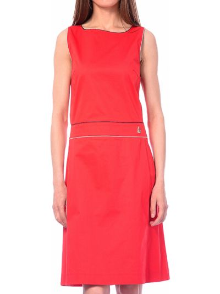 Хлопковое красное платье Marina Yachting