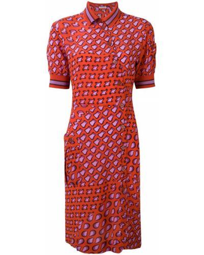 Платье рубашка - красное Tomas Maier