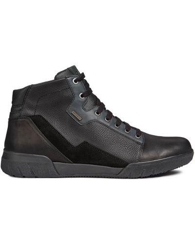 Кожаные ботинки мембранные черные Geox