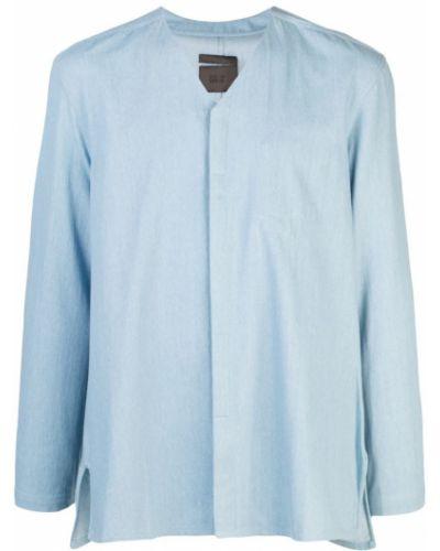 Синяя классическая рубашка на пуговицах Siki Im
