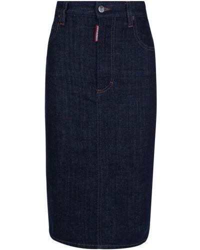 Юбка макси карандаш джинсовая Dsquared2
