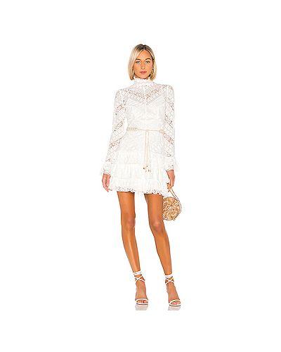 Платье мини с вышивкой с поясом Zimmermann