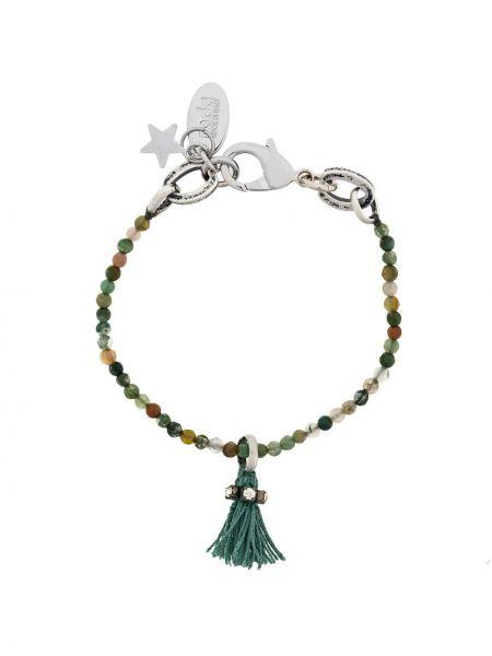 Zielona bransoletka z jedwabiu Radà