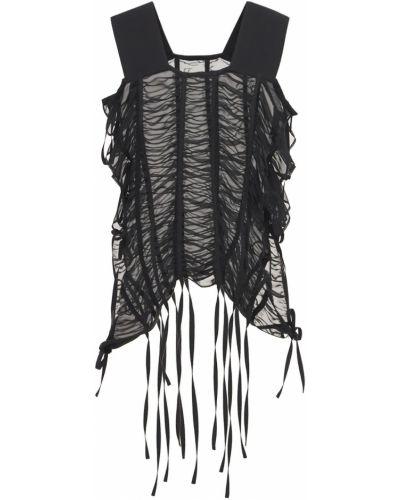 Czarny top Noir Kei Ninomiya