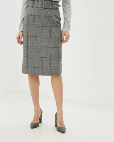 Серая прямая юбка карандаш Marks & Spencer