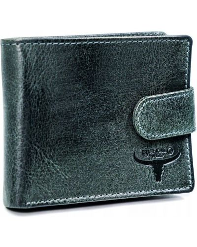 Кожаный кошелек - черный Buffalo Wild