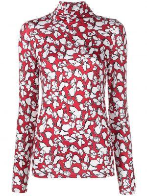 Блузка с принтом - красная Jason Wu