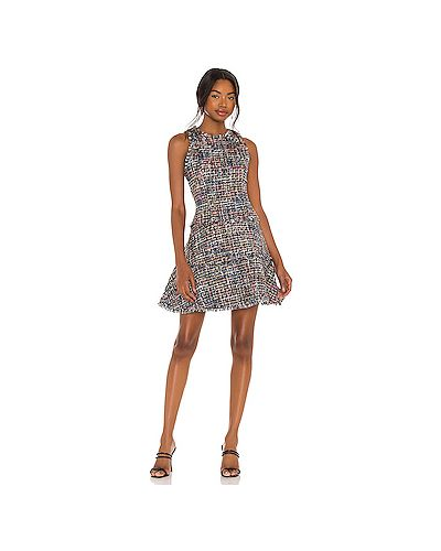 Серое платье с подкладкой твидовое Likely