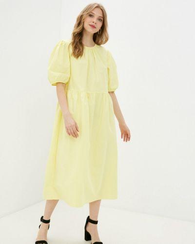 Прямое желтое платье А-силуэта Incity