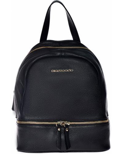 Рюкзак черный на молнии Di Gregorio