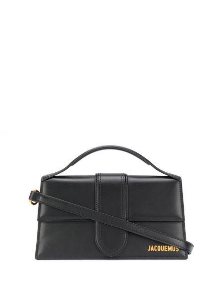 Золотистая черная кожаная маленькая сумка Jacquemus