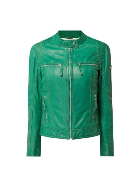 Zielona kurtka skórzana Cabrini