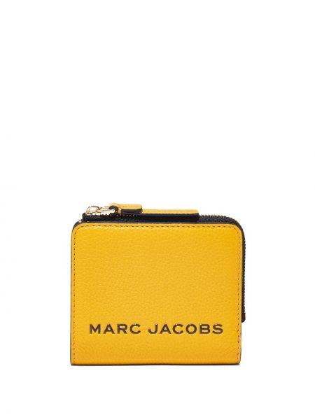 Желтый кожаный кошелек для монет с подкладкой Marc Jacobs