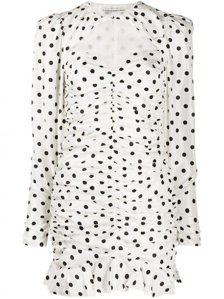 Шелковое платье мини - белое Alessandra Rich