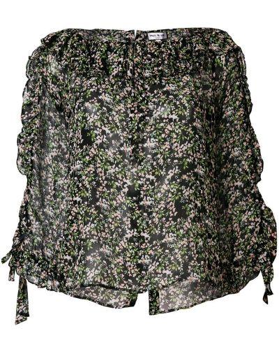 Блузка с цветочным принтом шелковая Paul & Joe