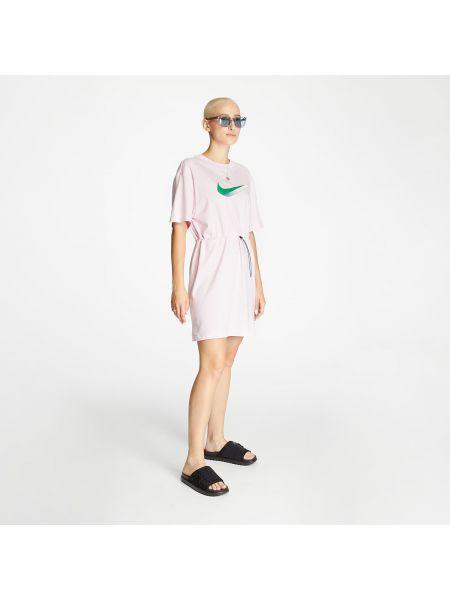 С рукавами розовое платье Nike