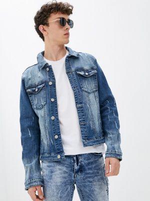 Синяя джинсовая куртка осенняя Terance Kole