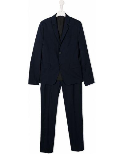 Niebieski garnitur z wiskozy z długimi rękawami Boss Kidswear