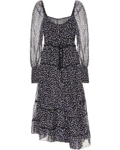 Платье миди с цветочным принтом шелковое Altuzarra