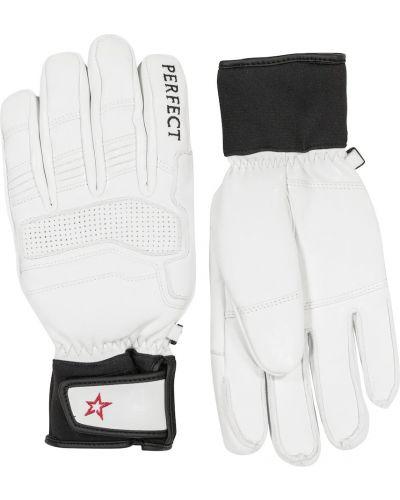 Кожаные перчатки - белые Perfect Moment