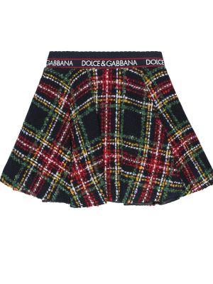 Czarny spódnica tweed Dolce & Gabbana Kids