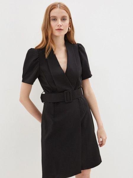 Платье с запахом черное Rinascimento