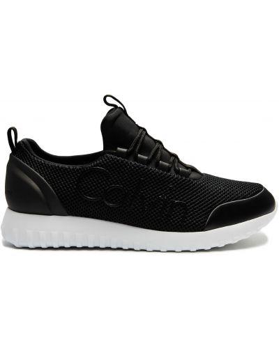 Черные кроссовки сетчатые Calvin Klein