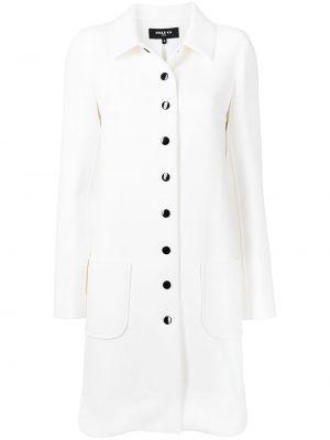 Белое пальто трапеция Paule Ka