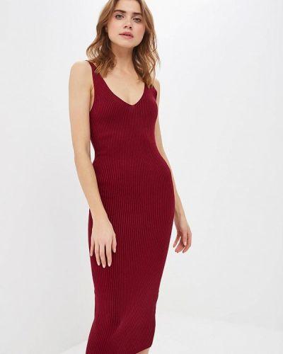 Платье бордовый платье-майка форма