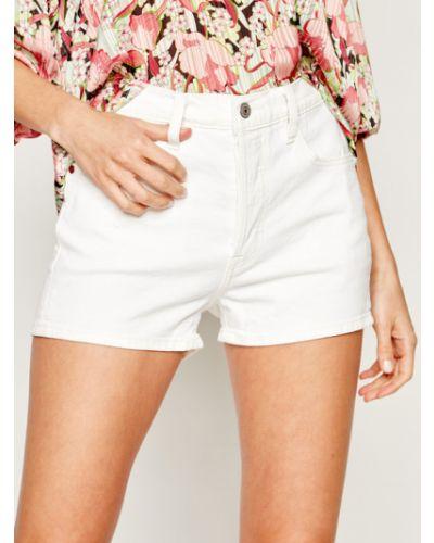 Szorty jeansowe - białe Levi's