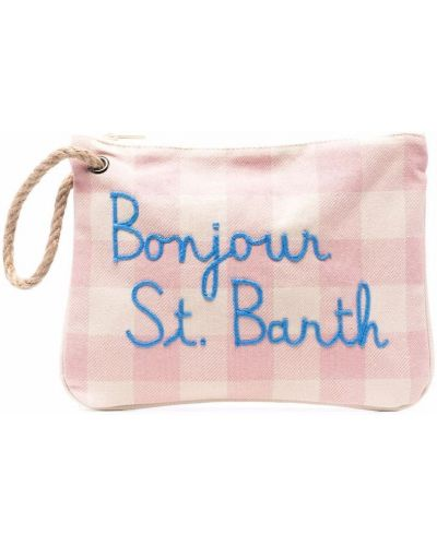 Różowa kopertówka z printem bawełniana Mc2 Saint Barth Kids