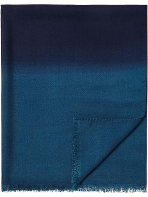 Синий шелковый шарф Ermenegildo Zegna