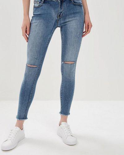 Зауженные джинсы - голубые Adrixx
