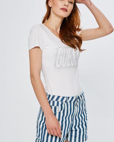Белая футболка облегающая Guess Jeans