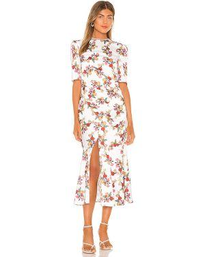 Biała satynowa sukienka midi na co dzień Keepsake